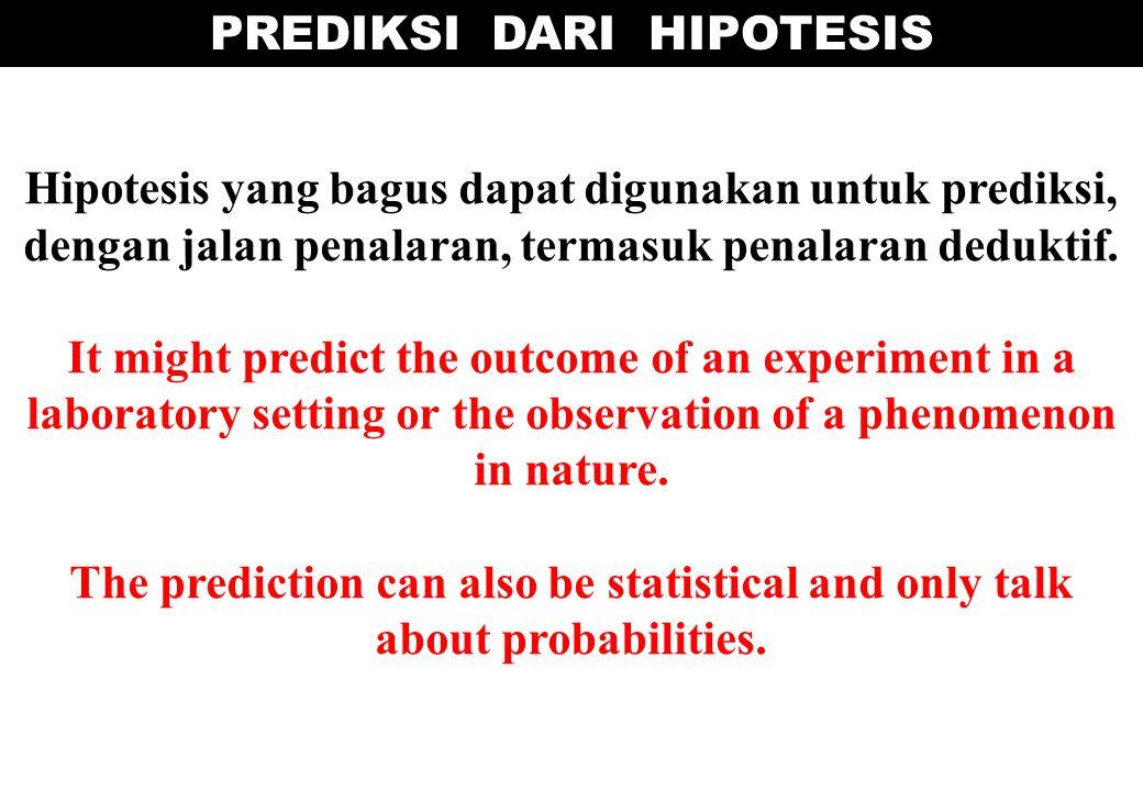 PREDIKSI DARI HIPOTESIS