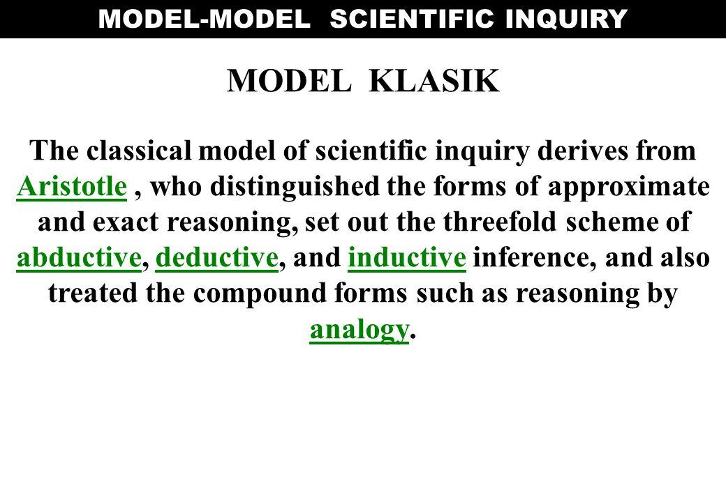 MODEL-MODEL SCIENTIFIC INQUIRY