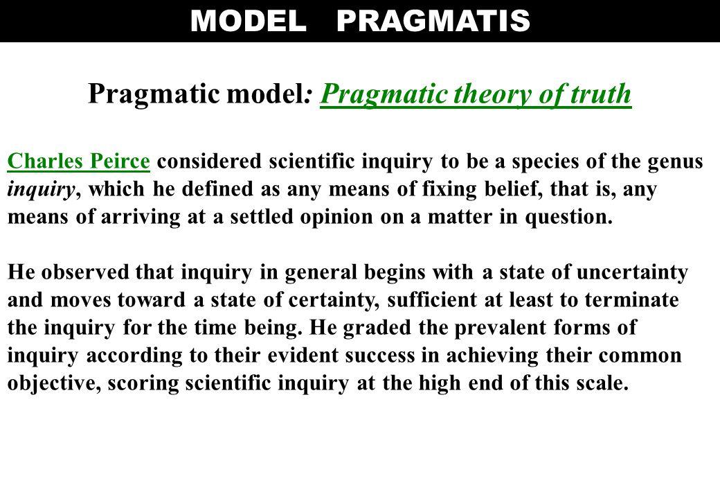 Pragmatic model: Pragmatic theory of truth