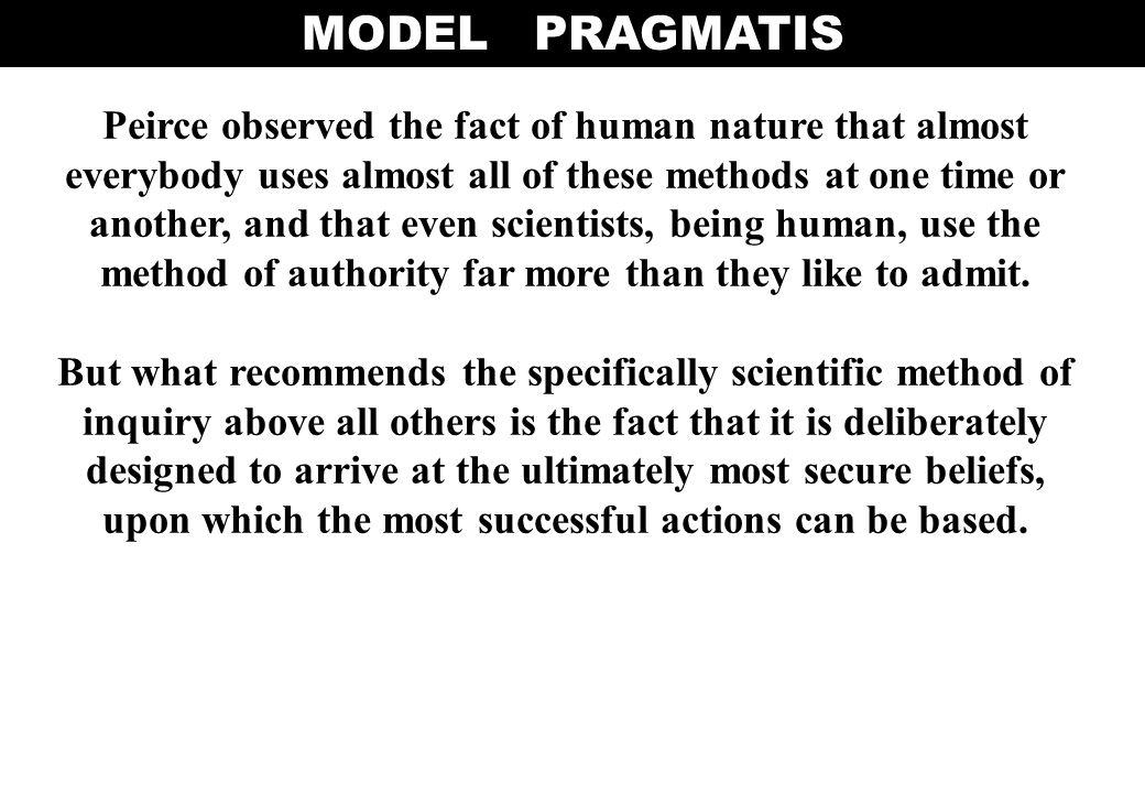MODEL PRAGMATIS