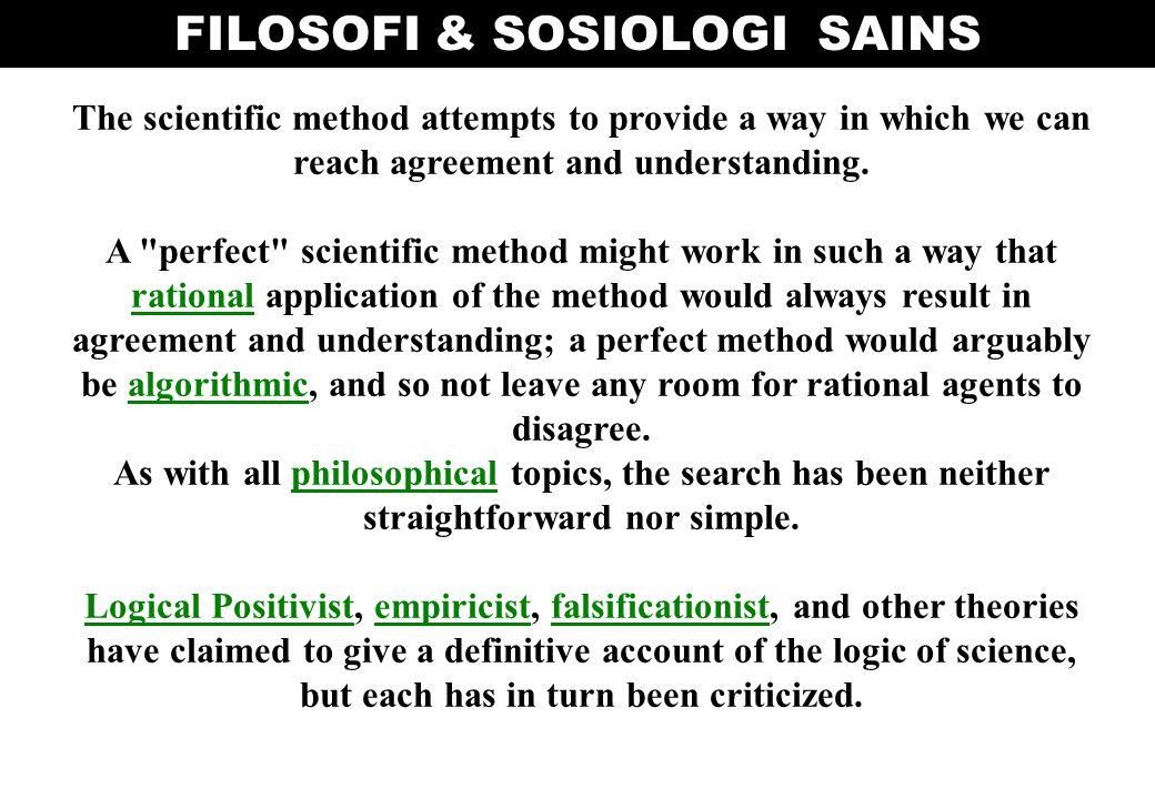 FILOSOFI & SOSIOLOGI SAINS