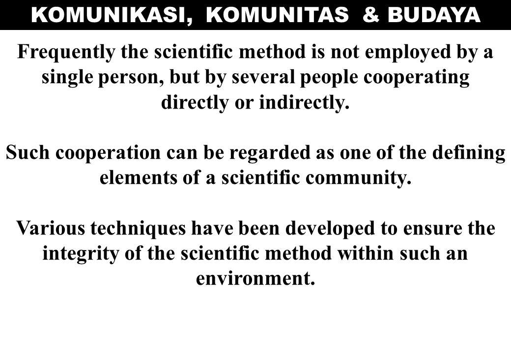 KOMUNIKASI, KOMUNITAS & BUDAYA