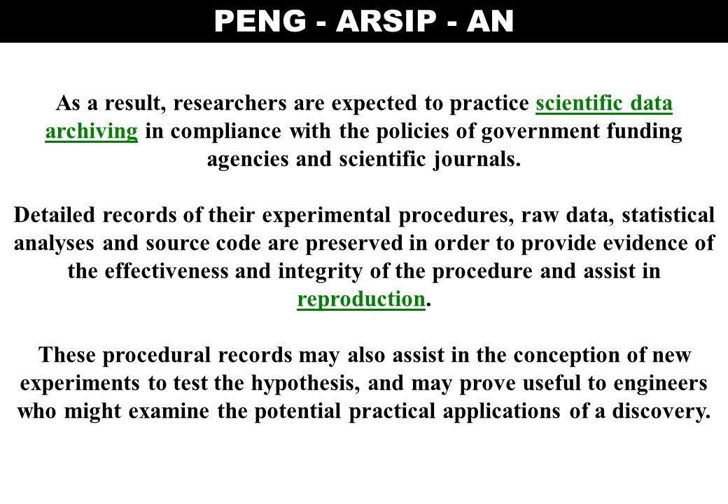 PENG - ARSIP - AN