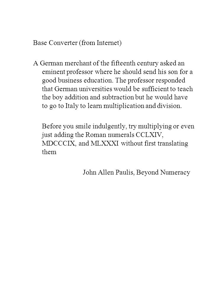 Base Converter (from Internet)