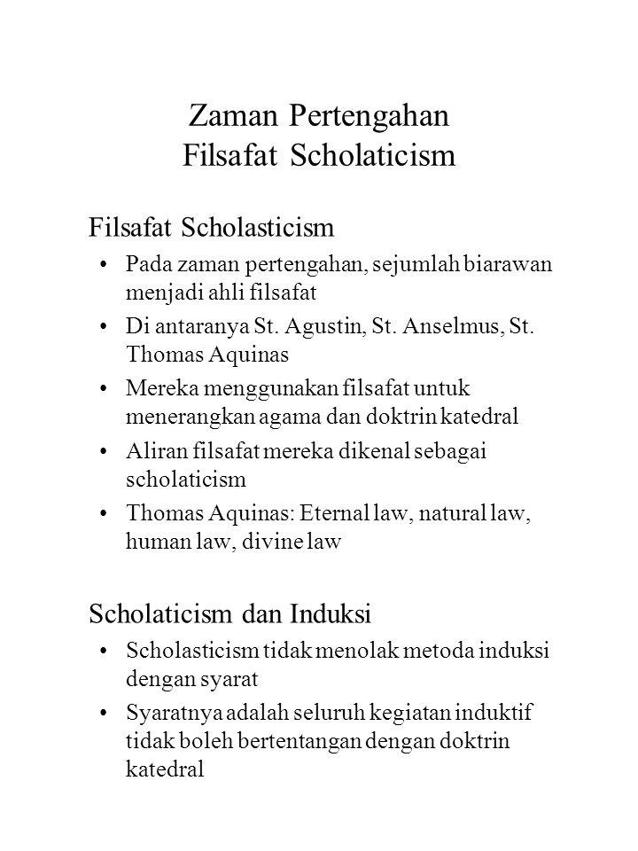 Zaman Pertengahan Filsafat Scholaticism