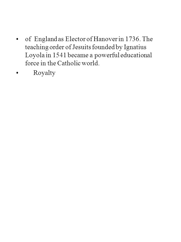 of England as Elector of Hanover in 1736