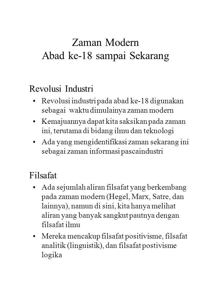 Zaman Modern Abad ke-18 sampai Sekarang