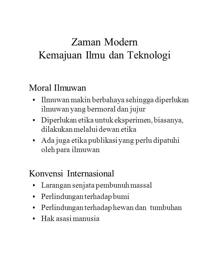 Zaman Modern Kemajuan Ilmu dan Teknologi