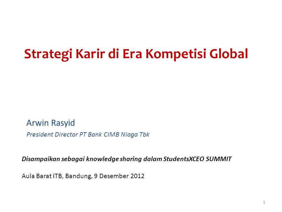 Strategi Karir di Era Kompetisi Global