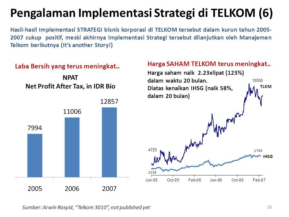 Pengalaman Implementasi Strategi di TELKOM (6)