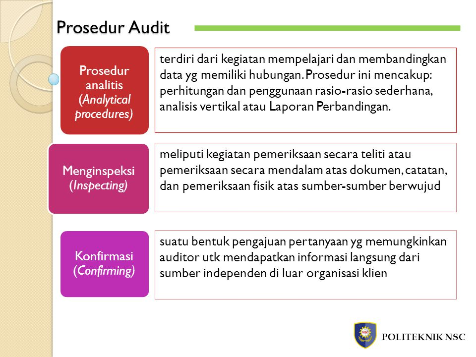 Prosedur Audit Prosedur analitis (Analytical procedures)