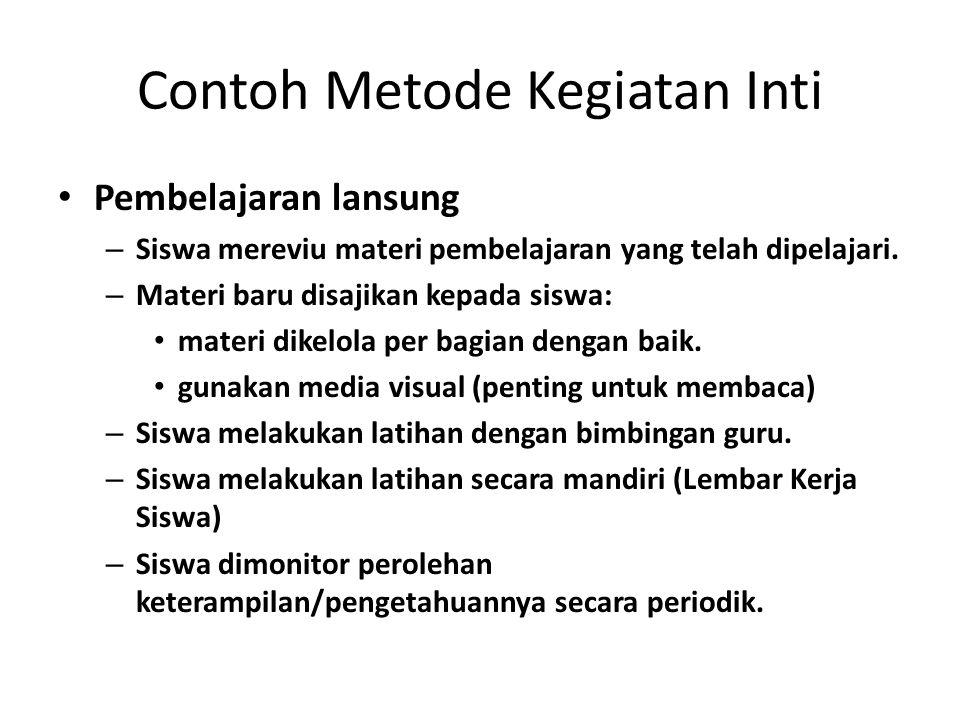Contoh Metode Kegiatan Inti