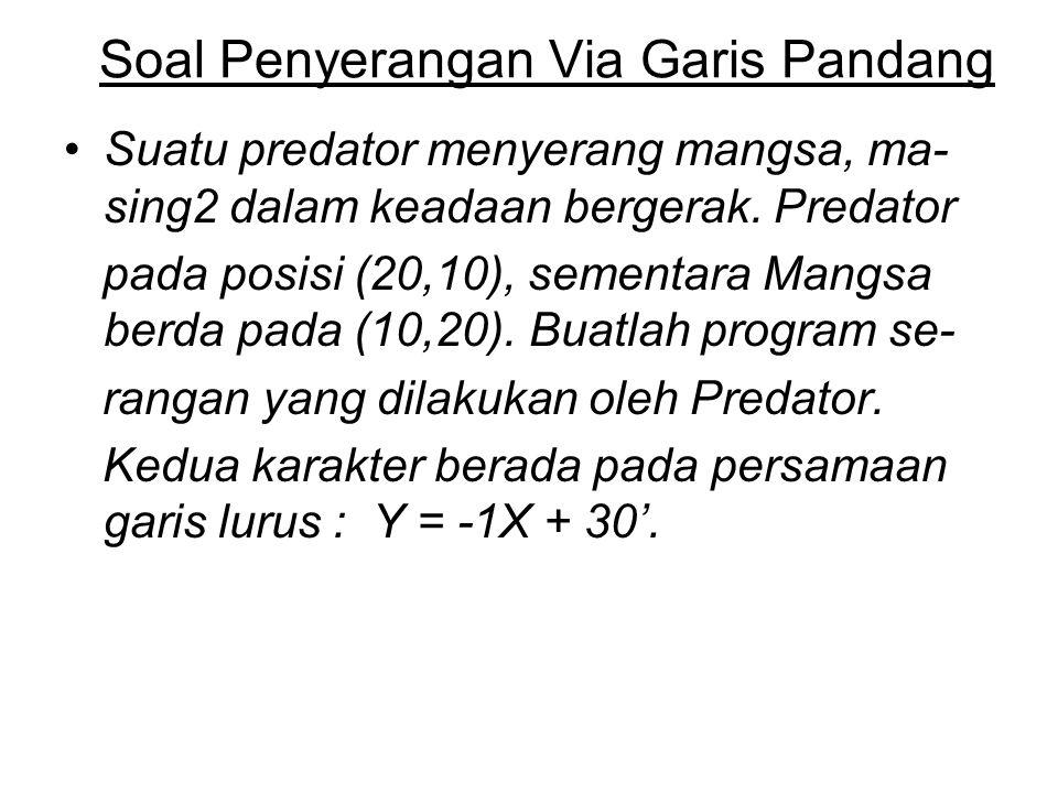 Soal Penyerangan Via Garis Pandang