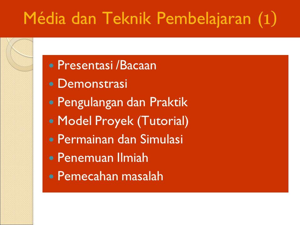 Média dan Teknik Pembelajaran (1)