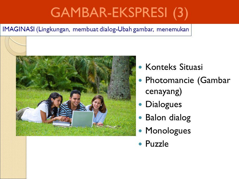 GAMBAR-EKSPRESI (3) Konteks Situasi Photomancie (Gambar cenayang)