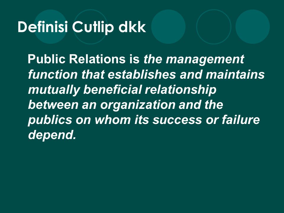 Definisi Cutlip dkk
