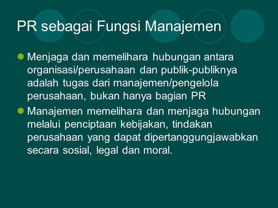 PR sebagai Fungsi Manajemen