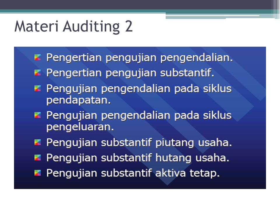 Materi Auditing 2