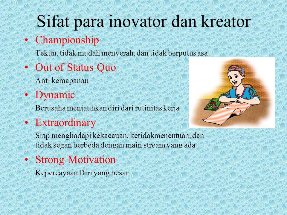 Sifat para inovator dan kreator