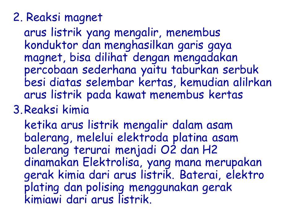 2. Reaksi magnet