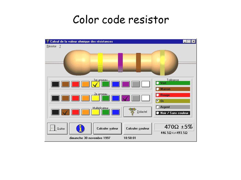 Color code resistor