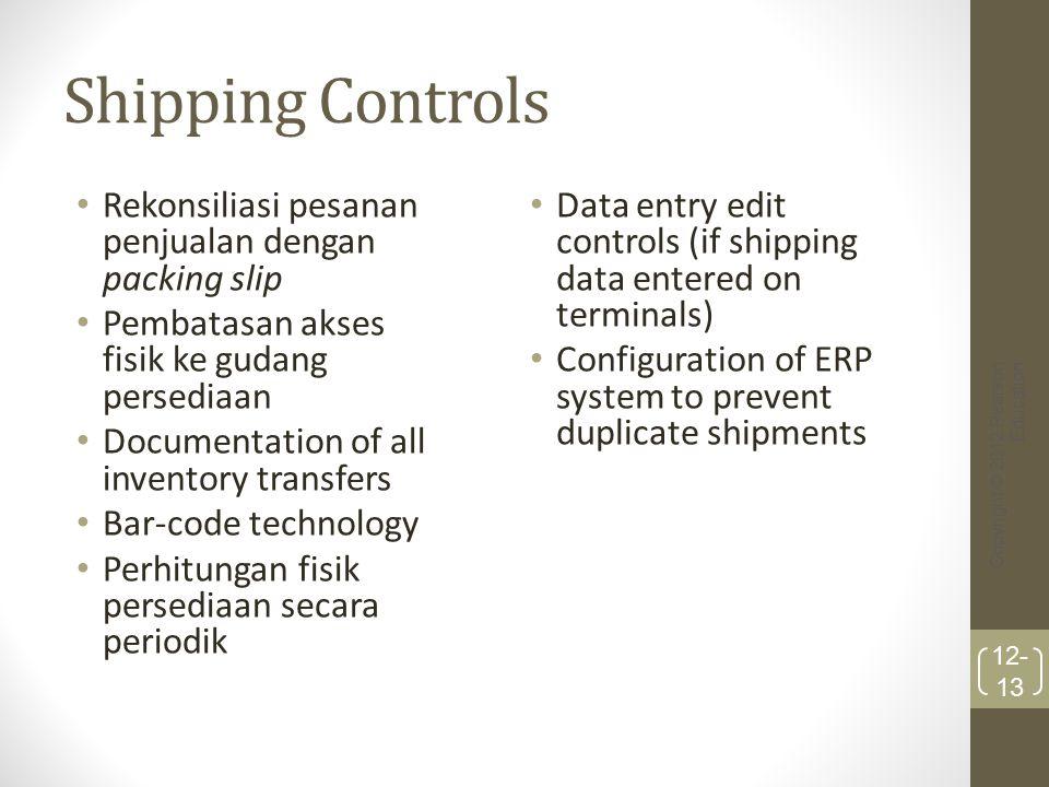 Shipping Controls Rekonsiliasi pesanan penjualan dengan packing slip