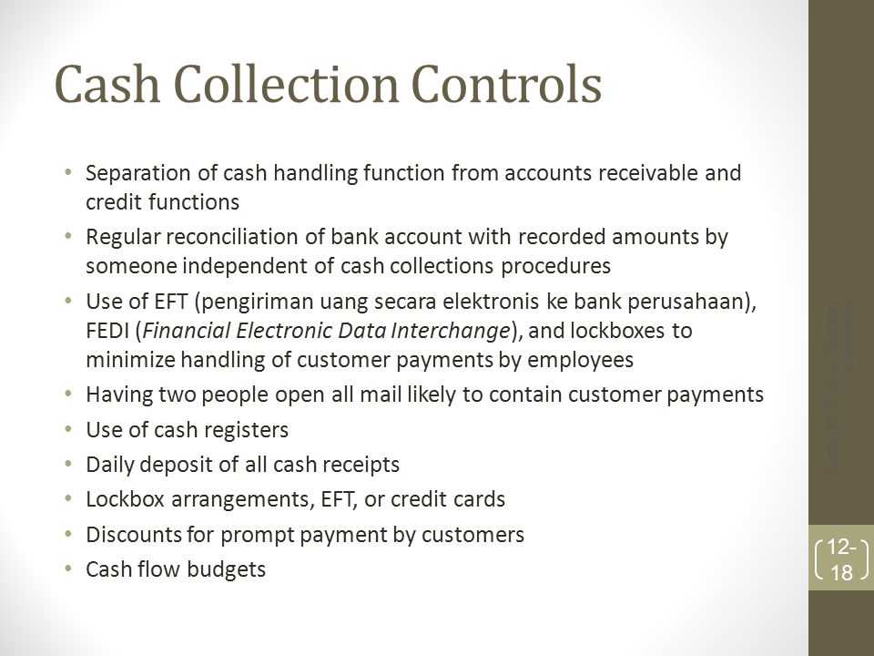 Cash Collection Controls