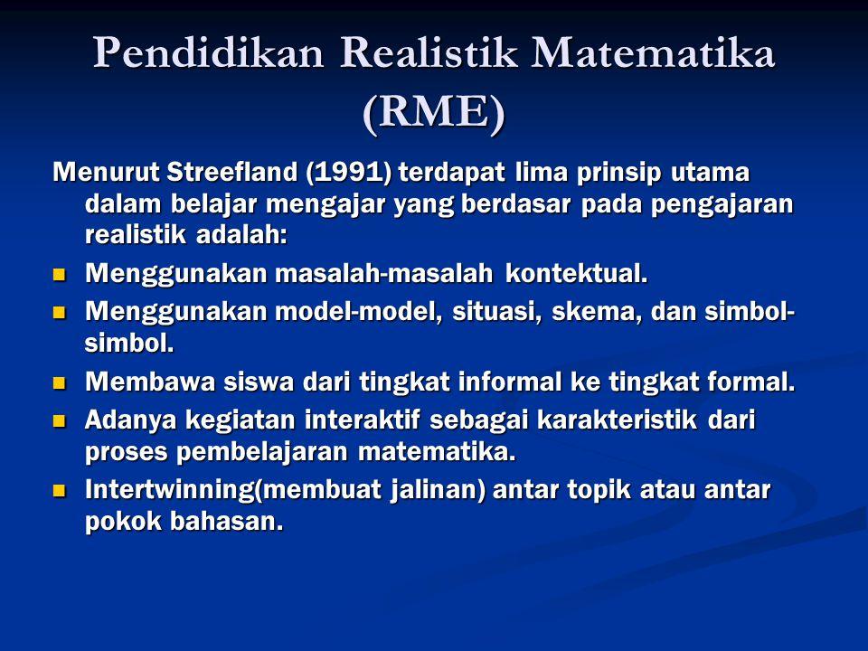 Pendidikan Realistik Matematika (RME)
