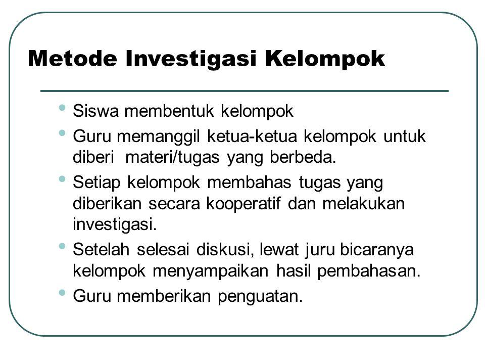 Metode Investigasi Kelompok