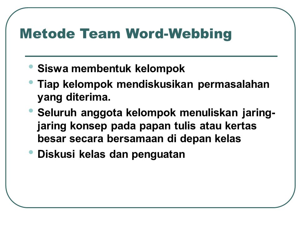 Metode Team Word-Webbing