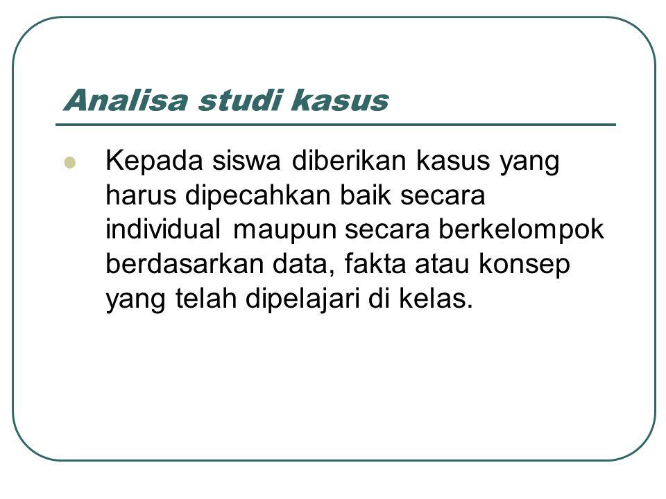 Analisa studi kasus