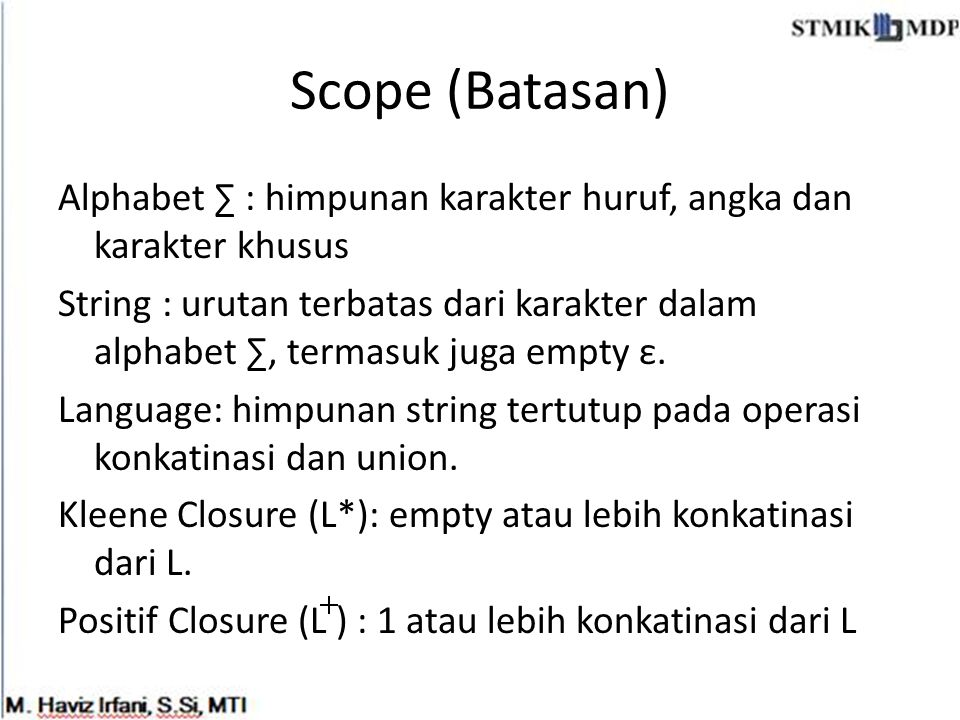 Scope (Batasan)