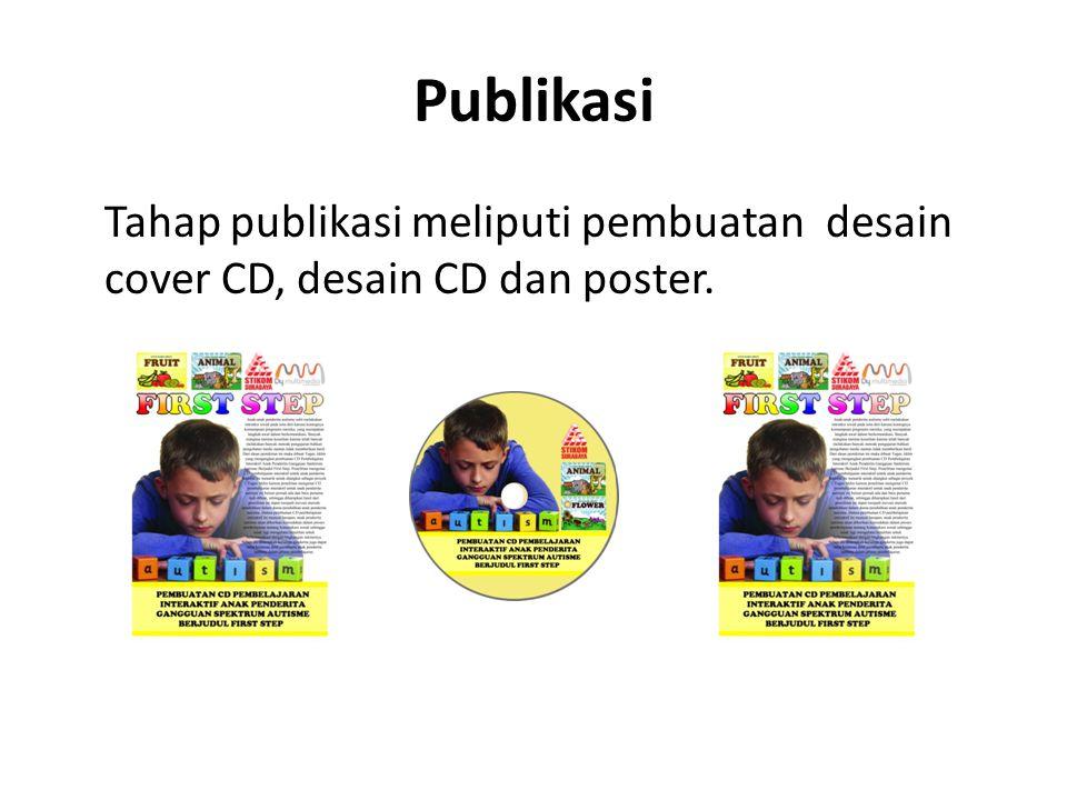 Publikasi Tahap publikasi meliputi pembuatan desain cover CD, desain CD dan poster.