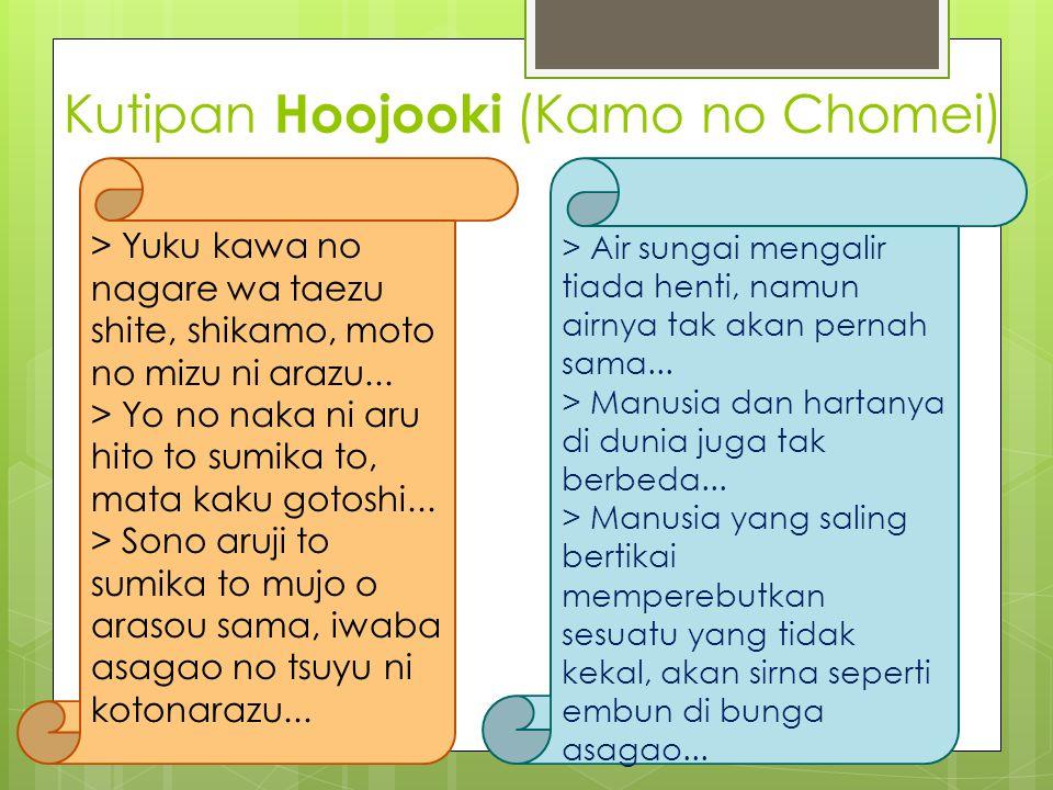 Kutipan Hoojooki (Kamo no Chomei)