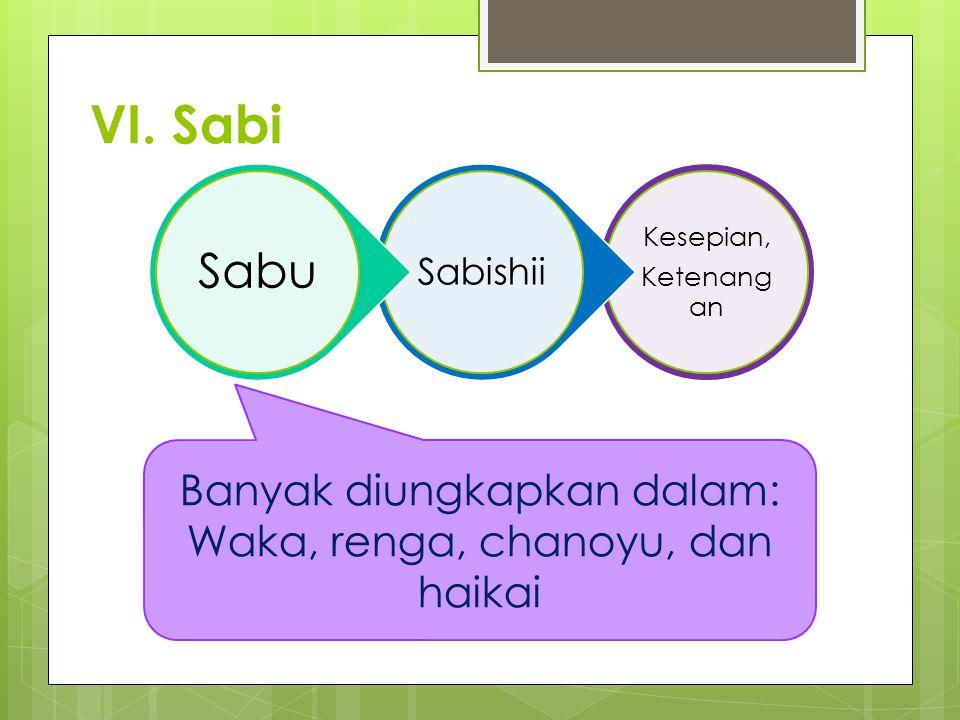 VI. Sabi Sabu Banyak diungkapkan dalam: