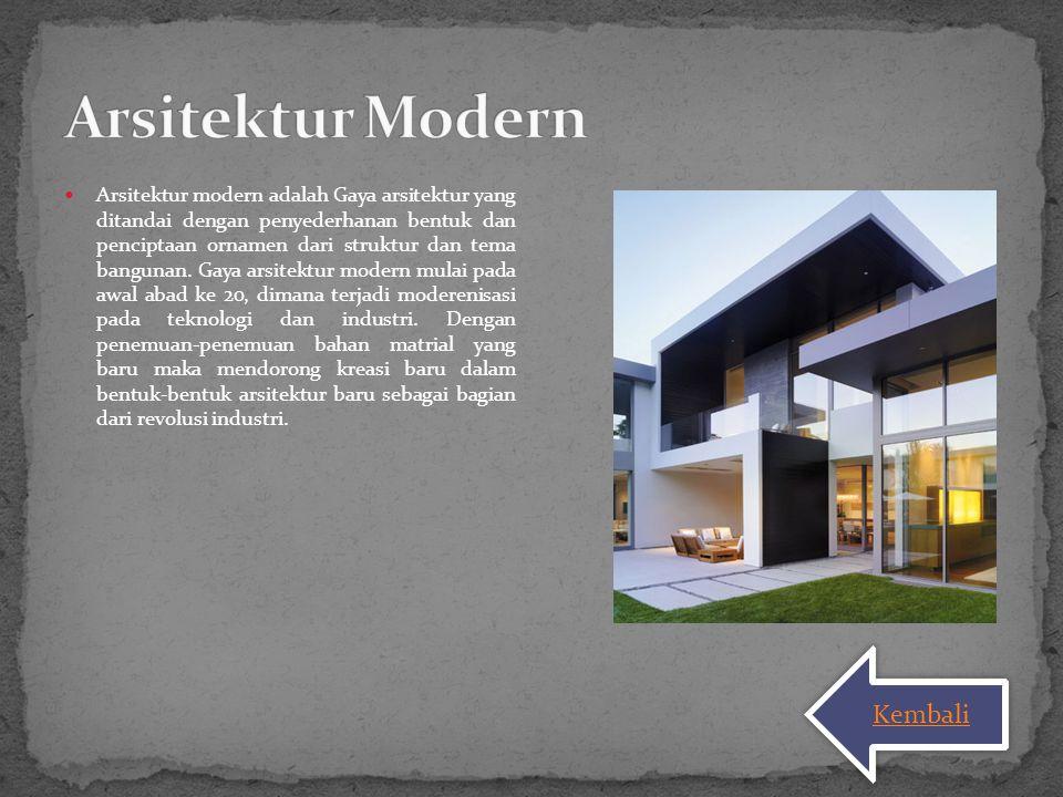 Arsitektur Modern Kembali