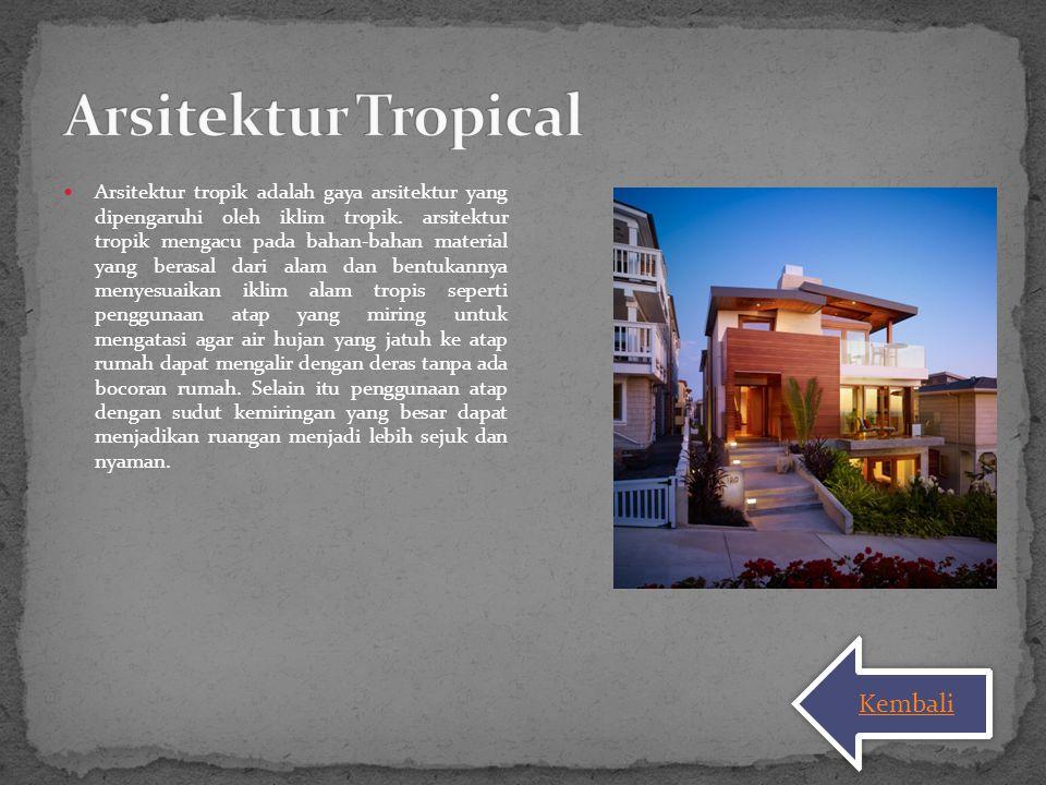 Arsitektur Tropical Kembali