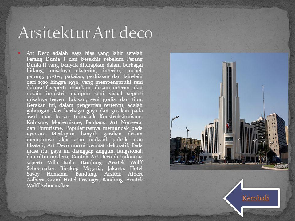 Arsitektur Art deco Kembali