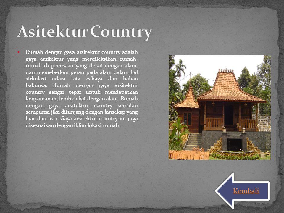 Asitektur Country Kembali