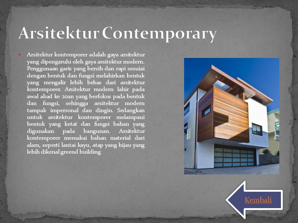 Arsitektur Contemporary