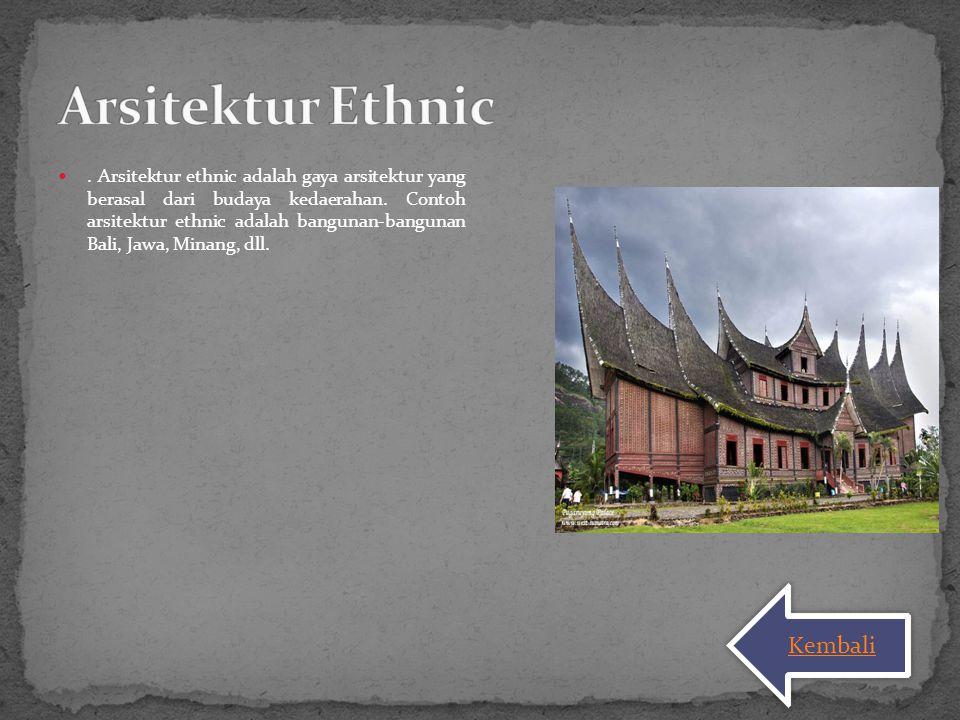 Arsitektur Ethnic Kembali