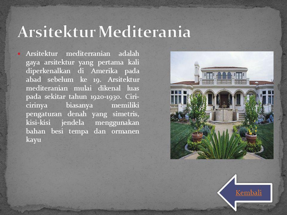 Arsitektur Mediterania