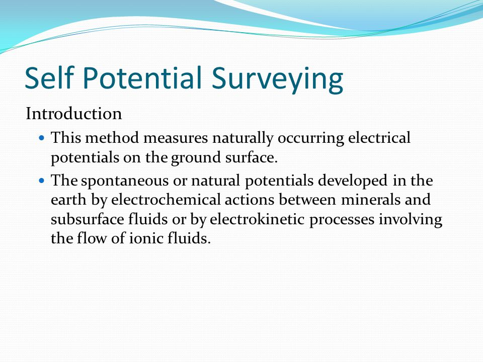 Self Potential Surveying