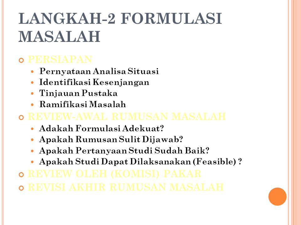 LANGKAH-2 FORMULASI MASALAH