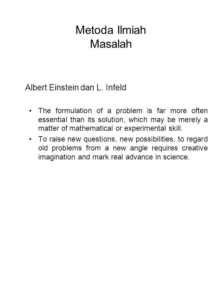 Metoda Ilmiah Masalah Albert Einstein dan L. Infeld