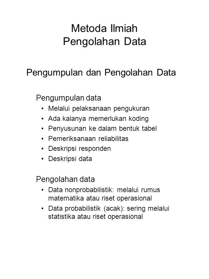 Metoda Ilmiah Pengolahan Data