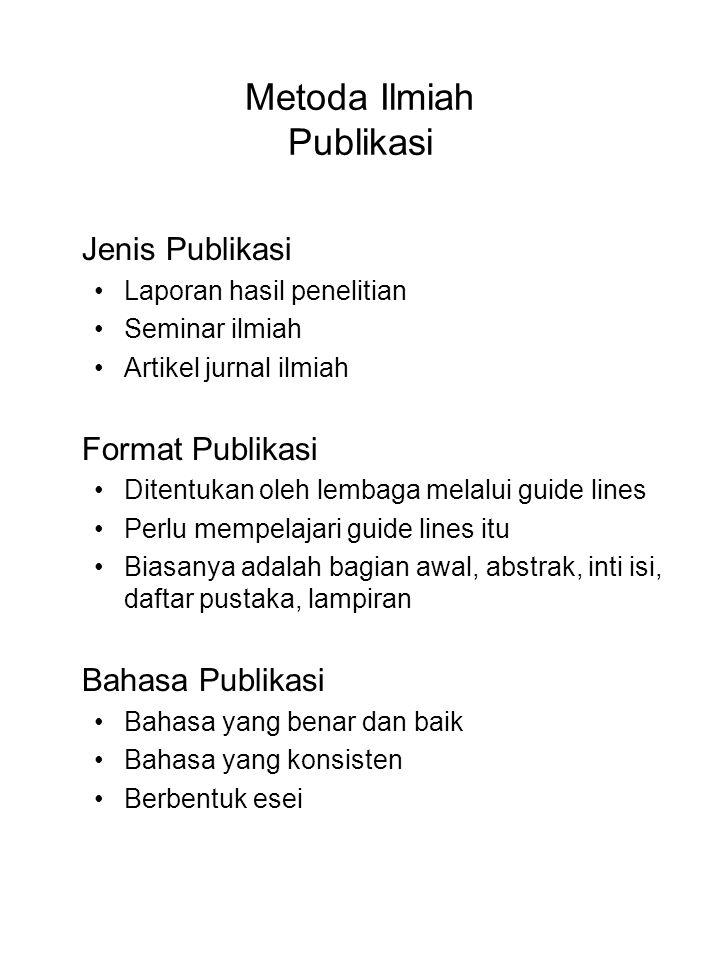 Metoda Ilmiah Publikasi