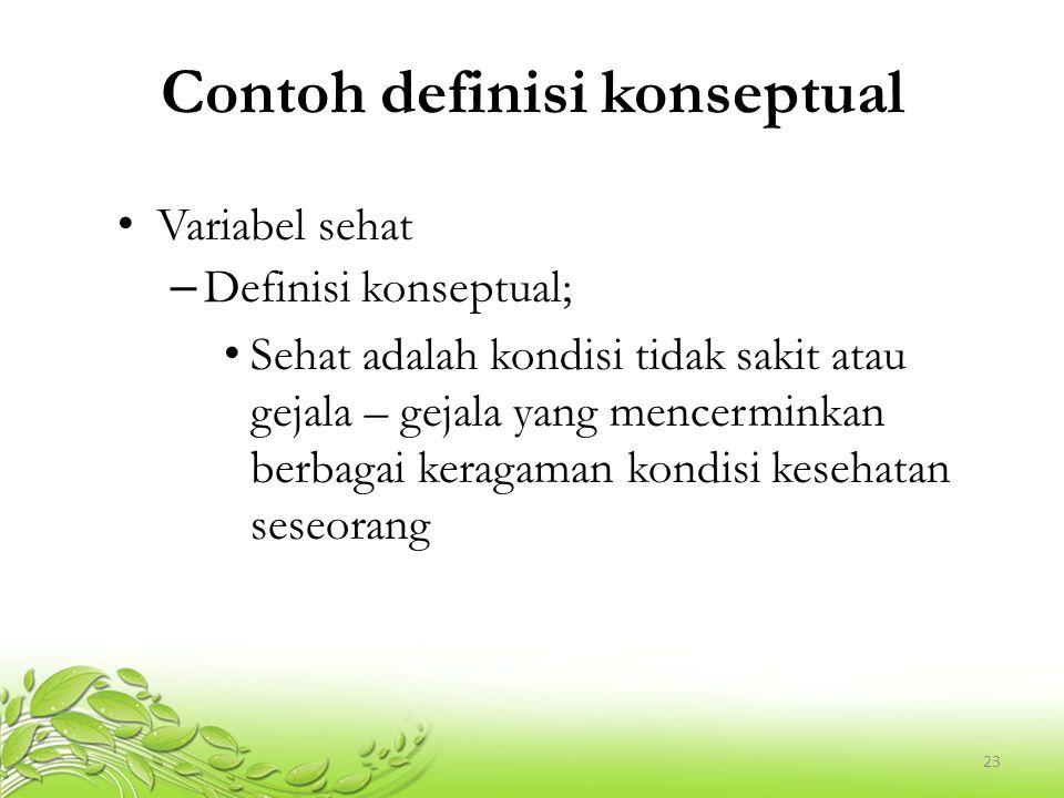 Contoh definisi konseptual