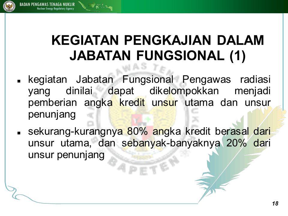 KEGIATAN PENGKAJIAN DALAM JABATAN FUNGSIONAL (1)