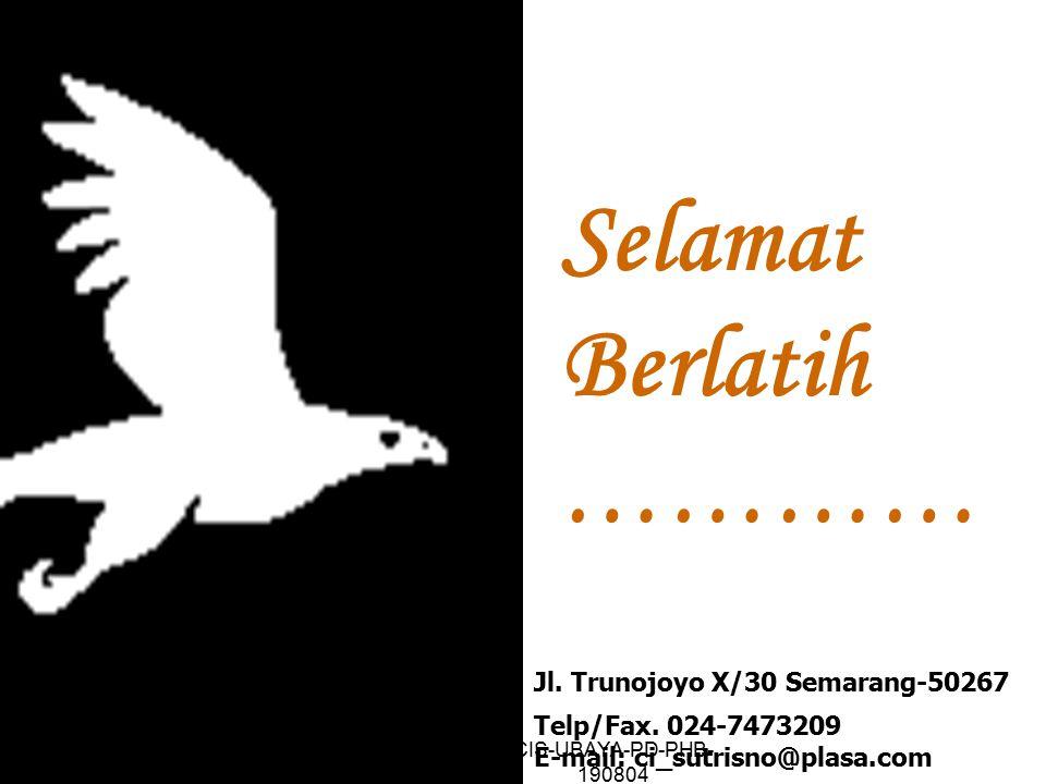 Selamat Berlatih ………… Jl. Trunojoyo X/30 Semarang-50267